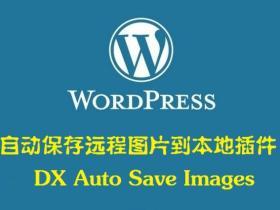 WordPress插件DX Auto Save Images自动保存远程图片到本地
