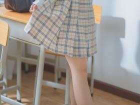 米稠格子百褶裙JK制服Cosplay图片 小姐姐真可爱辛苦了