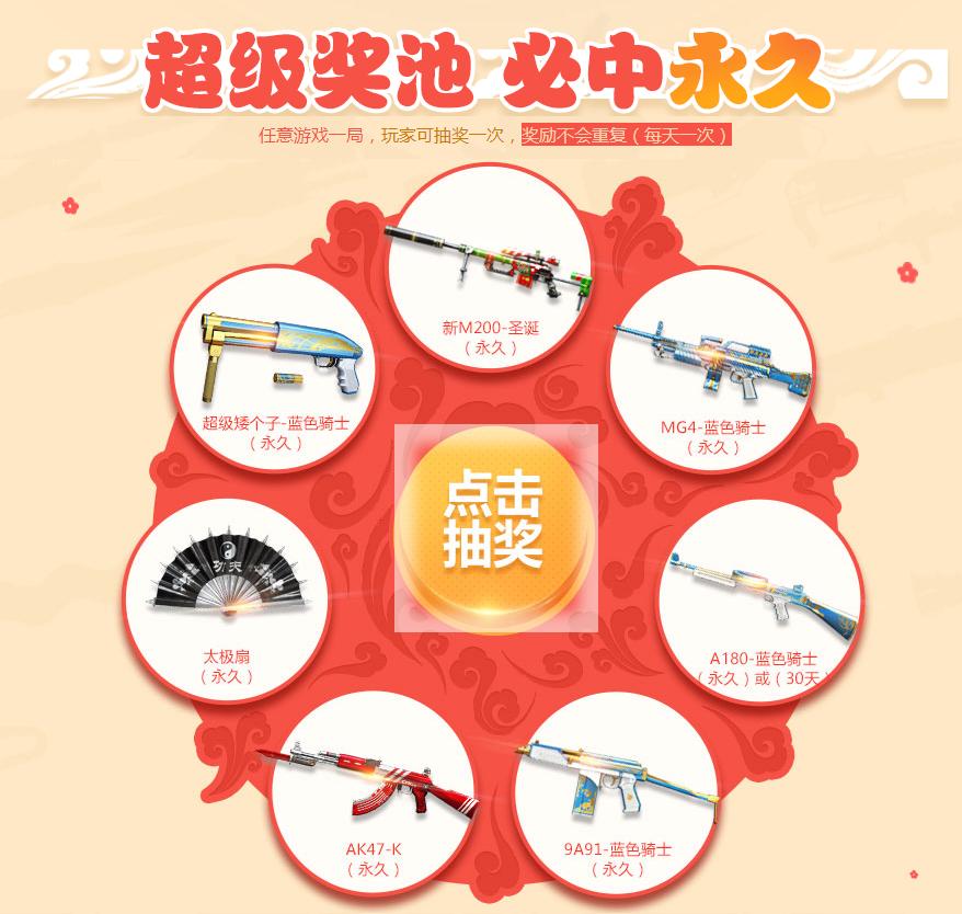 CF双蛋庆典神枪节必得Q币(最高1888)跟永久武器