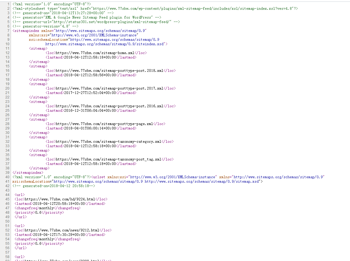 WordPress无插件实现百度xml 版站点地图制作方法