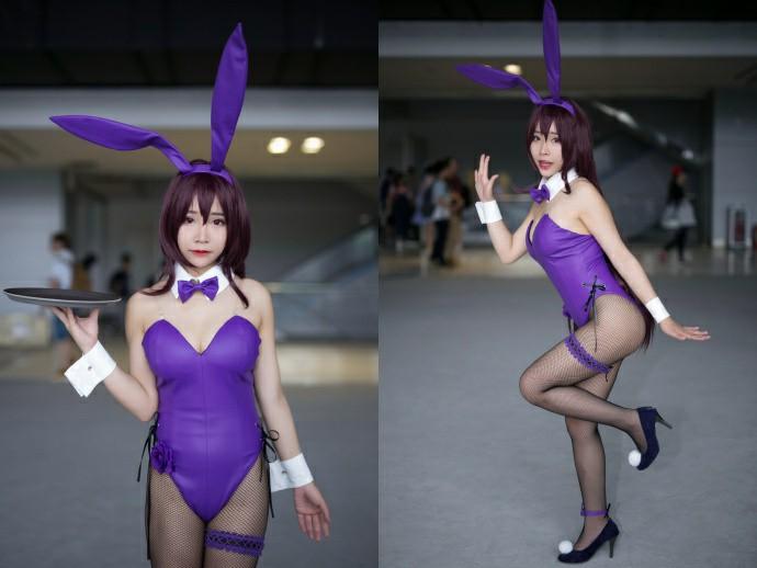 性感萌妹子Cosplay黑鱼网兔女郎图片2