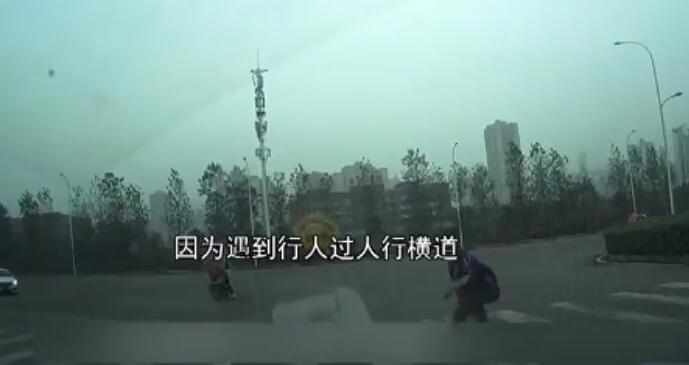 小学生斑马线向礼让司机鞠躬视频刷爆朋友圈 暖心的一幕正能量满满的