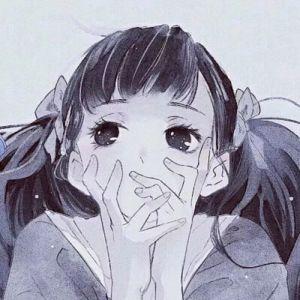 动漫男生女生情侣头像绘画图片