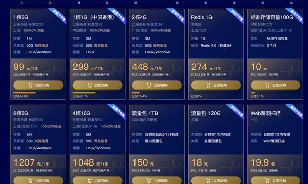 腾讯云助力行业复工活动 99元买1年1核2G1M服务器 299可买3年