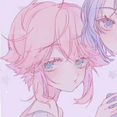 双人闺蜜头像一左一右手绘配对图片 闺蜜头像一人一半拼接微信qq头像